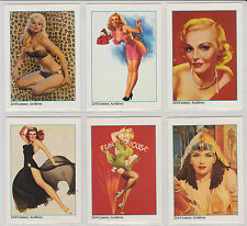 Hollywood Pinups VTG Paintings on 50 1990s Trading Cards Sexy GGA Mint  full set