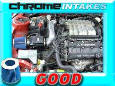 BLACK BLUE 91-99 MITSUBISHI 3000GT GTO/DODGE STEALTH N/T 3.0L V6 AIR INTAKE KIT
