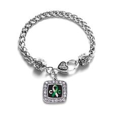 Inspired Silver Cervical Cancer Classic Support Bracelet