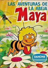 LAS AVENTURAS DE LA ABEJA MAYA.  Danone, 1977. Álbum de cromos completo.