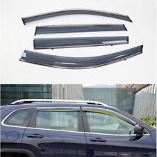 Chrome Window Visor Deflector Rain Shield 4pcs For Jeep Cherokee 2014-2019 (KL)