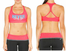 "Lorna Jane ""Never Give Up"" Sports Bra Crop Top Gym Yoga Workout Ladies Size XS-L"