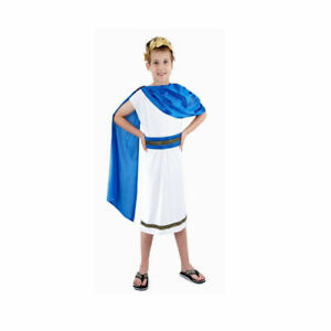 Boys Emperor Caesar Costume Greek Roman Fancy Dress Ages 3-4 Years