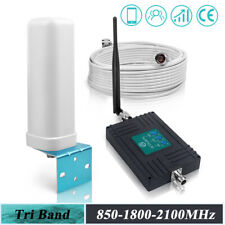 2G 3G 4G 850/1800/2100MHz Mobile Phone Signal Booster Repeater GSM LTE Amplifier