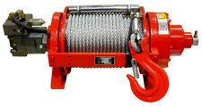 22000lb Warrior Hydraulic Winch JP Series with Tensioner Heavy Duty Commercial
