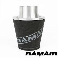 Ramair Silver Medium Aluminium Induction Air Filter Universal 100Mm Od Neck