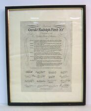 SCOTTISH RITE FREE MASONRY Ascension print, Gerald Ford 33 degree, Grand Rapids