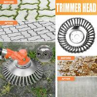 Grass Strimmer Head Trimmer Brush Solid Steel Wire Wheel Garden Weed 6 Inch UK