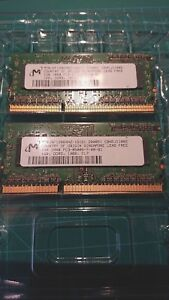 Micron 2GB Kit (2x1GB) 1RX8 PC3-8500S-7-00-B1 DDR3 1066 MT8JSF12864HZ-1G1D1