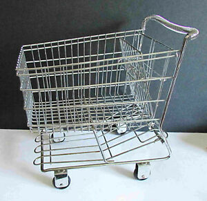 "Large Metal Detailed Replica Grocery Food Cart Decor Shopping Gift 12.5"" FREE SH"