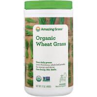 Amazing Grass Organic Wheat Grass 17 oz 480 g Gluten-Free, Kosher, Organic, Raw,