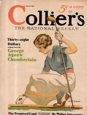 1933 Colliers Cover June 3 - The Lady Golfer readies to tee off her golf ball