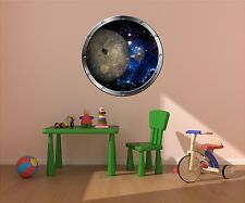 """24"""" Porthole Space Window PLANET MERCURY #1 SILVER Wall Decal Sticker Graphic"""