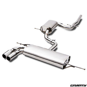 STAINLESS CAT BACK EXHAUST SYSTEM FOR VW SCIROCCO 2.0 TDI 170 BHP 1.4 TSI 08-17