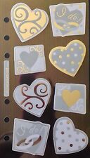 I Do's Vellum Sticker(8pc) Sticko•Silver•Wedding•Gifts •Bride•Groom•Hearts•Love