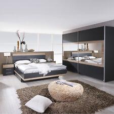 Schlafzimmer-Set Tarragona Bett Nakos Kleiderschrank grau-metallic Eiche Sanremo