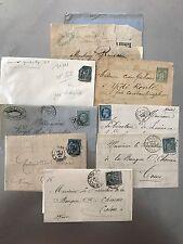 8 lettres anciennes  1860/1890 belles oblitérations