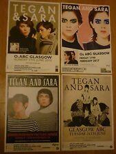 Tegan And Sara - Scottish tour concert gig posters x 4
