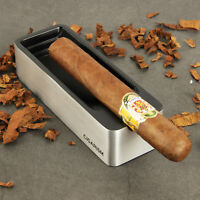 CIGARISM Silver Metal Dual-purpose Aluminum Alloy Metal Cigar Travel Ashtray