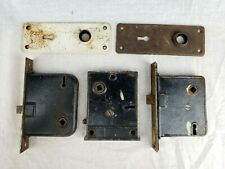 Vintage Antique Cast Iron Metal Latch Door Locks Architectural Hardware Mortise