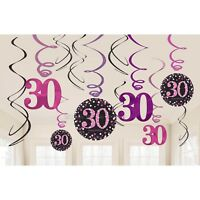 30th PINK Celebration Birthday Party Supplies Balloons Tableware & Decorations