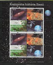 Polska, Poland Fi. Ark. 4012/15 ** The Cosmic History of Earth Mi. 4162/65 (k1)