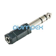 K18 Klinken Adapter 6,35mm Stecker auf 3,5mm Buchse stereo Audio HIFI Silber