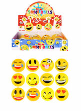 6 Smiley Face Splat Balls - Happy Splatter Stress Relief Fidget Sensory Emoji