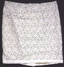 Apt. 9 Winter White/Taupe Lace Over Career Skirt Sz 16 NWT