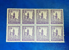 Germany Stamps SBZ Soviet Zone 8x 6 Pfennig 1946 Block Mi. Nr. 159 (16612)