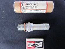 CHAMPION Aircraft Engine SPARK PLUG - Part # R-103 - 122-A - 4708-R103 - NEW
