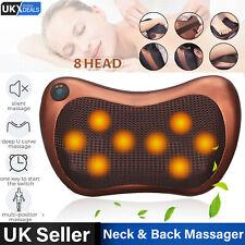 UK Electric Lumbar Neck Back Massage Pillow Cushion Massager with Heat Car Home
