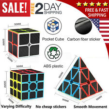 Rubiks Cube Speed Magic Toy Twist Kids Puzzle Game Triangle Pyramid Brain Teaser