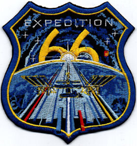 ISS Expedition 66 International Space Station Badge Iron On Embroidered Patch