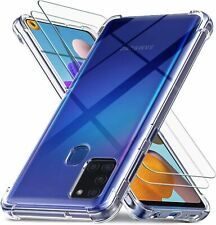 Ferilinso Cases for Samsung Galaxy A21S with 2 Pack Screen Protector, 2 pcs