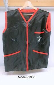 Professional Barber Vest Jacket Black Color Ultra Lightweight