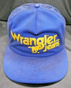 Rare Dale Earnhardt Sr. Worn and Signed Wrangler Racing Cap with Full JSA Letter