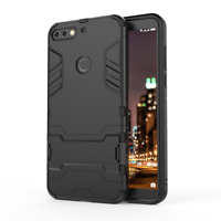 For Huawei Y7 2018 - SLIM TOUGH SHOCK PROOF BUILDER PHONE CASE COVER STAND