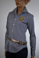 Lauren Ralph Lauren Black & White Blouse Ralph Lauren Gold Crest - NWT