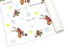 """Geschenkpapier SIP """"Vespa -Motiv"""" Weihnachten """"Paar auf Vespa Roller"""" weiß matt"""
