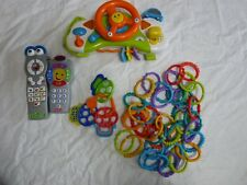 Crib Hanging Toy Busy Box Steering Wheel Fisher Price Remote Links Teether