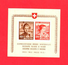Switzerland SCOTT# B116 Pro Juventute Photo MLH Souvenir Sheet of 2