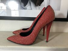 giuseppe zanotti Red Heels With Gold Studs