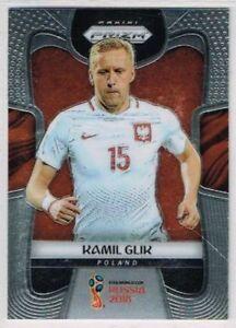 BASE CARD PANINI SOCCER PRIZM WORLD CUP RUSSIA 2018 N.152 GLIK POLAND