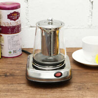 Electric Stove Teapot Coffee Tea Glass Kettle Maker Water Boiler Stainless Steel