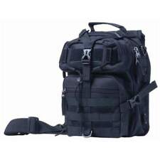 """11"""" BLACK Sling Backpack Military Tactical Bag Hiking Day Pack - With Holster"""