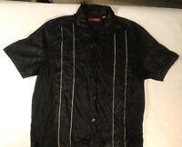 Sobrino Men's Black Short Sleeve Button Down Shirt Size-Large