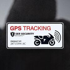 2x GPS Alarme Système Avertissement Autocollant Vinyle - Vélo Moto