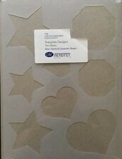 New 2 Creative Memories Star/Heart/Geometric Templates for Tracing & Cutting