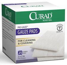 "Curad Sterile Pro Gauze Pads 2"" x 2"" 25 Counts"